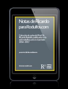"""Ebook de Ricardo Rodulfo """"notas de Ricardo"""" de descarga exclusiva en rodulfos.com"""