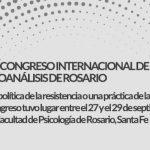 2do Congreso Internacional de Psicoanálisis de Rosario