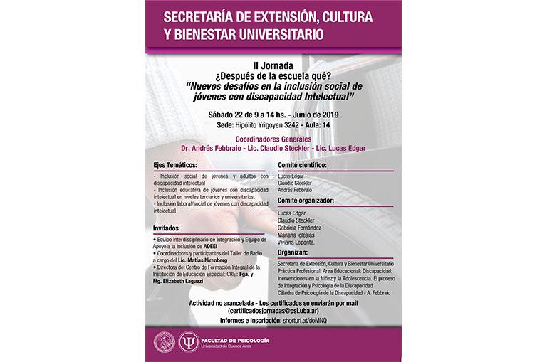 Jornada Inclusion Discapacidad - C. Steckler Noticias Psicoanalíticas de Rodulfos.com